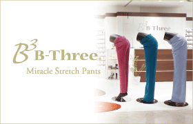 "MIRACLE STRETCH PANTS ""B-Three"" B-ThreeBrand detaile"